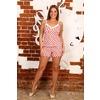 Пижама Топ+Шорты Красные Сердечки На Белом Б6 р 52 фото