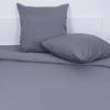 Постельное белье из сатина 17-1502 Темно-серый 1.5 сп с 1-ой нав. 70/70 фото