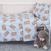 Пододеяльник бязь 120 гр/м2 детский 1286/3 Соня голубой 145/110 см фото