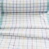 Ткань на отрез полулен полотенечный 50 см 3/60/13 Клетка розово-бирюзовая ива синяя 113358 фото