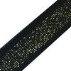 Лампасы №87 черные золото люрекс 2см 1 метр фото