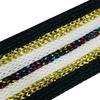 Лампасы №73 черные белые золото и цветной люрекс 2см 1 метр фото