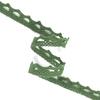 Кружево лен DX1017 зелень 1,2см 1метр фото