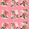 Вафельное полотно набивное 150 см 0098/5 Пионы цвет розовый фото