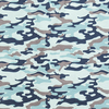 Ткань на отрез кулирка карде Камуфляж В голубой R163 фото