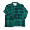 Рубашка мужская фланель клетка 48-50 цвет зеленый фото