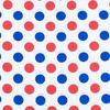 Ткань на отрез бязь плательная 150 см 1718/2 цвет красный-василек фото