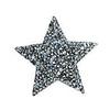 Термоаппликация ТАС 154 звезда серебро 5см фото