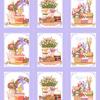 Вафельное полотно набивное 150 см 3021-3 Светлая пасха цвет сиреневый фото