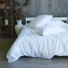 Простыня страйп-сатин цвет белый 235/270 фото