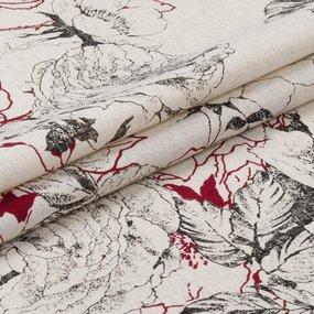 Ткань на отрез полулен 150 см 4912/3 цвет красный фото