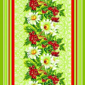 Вафельное полотно набивное 80 см 326А цвет зеленый фото