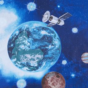 Маломеры поплин 150 см 1716 Космос 11 м фото