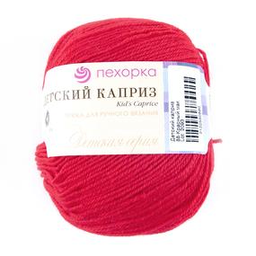 Пряжа для вязания ПЕХ Детский каприз 50гр/225м цвет 088 красный мак фото