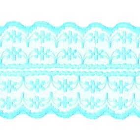 Кружево капрон 45 мм/10 м цвет 133-2 св. бирюзовый фото