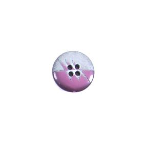 Пуговицы Блузочные 4 прокола 13 мм L068 цвет т. розовый/серебро упаковка 12 шт фото