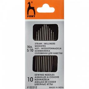 Иглы для наметки PONY 02312 размер 5-10 уп 10 шт фото