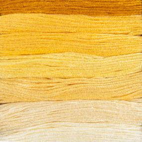 Нитки мулине Цветик-семицветик 10м ПНК набор 7 мотков 1 желтый лепесток фото
