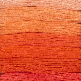 Нитки мулине Цветик-семицветик 10м ПНК набор 7 мотков 2 оранжевый лепесток фото