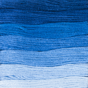 Нитки мулине Цветик-семицветик 10м ПНК набор 7 мотков 6 синий лепесток фото