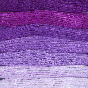 Нитки мулине Цветик-семицветик 10м ПНК набор 7 мотков 9 сиреневый лепесток фото