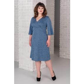 Платье 0265-16 цвет Голубой р 54 фото