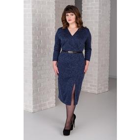 Платье 0266-09 цвет Темно-синий р 46 фото