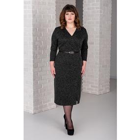 Платье 0266-11 цвет Черный р 46 фото