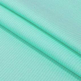 Вафельное полотно гладкокрашенное 150 см 165 гр/м2 цвет ментол фото