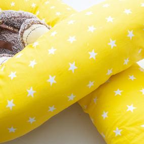Наволочка бязь на подушку для беременных U-образная 1700/8 цвет желтый фото