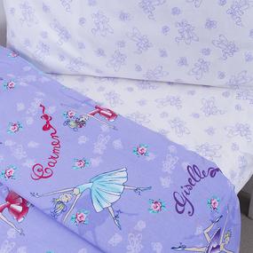 Постельное белье в детскую кроватку 10943/1 Балерина поплин с простыней на резинке фото
