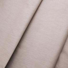 Ткань на отрез поплин гладкокрашеный 115 гр/м2 220 см цвет кремовый фото