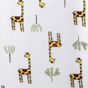Ткань на отрез муслин 135 см 7362/1 Жирафы фото