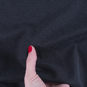 Ткань на отрез дублерин трикотажный стрейч 150 см 50 гр/м2 цвет черный фото