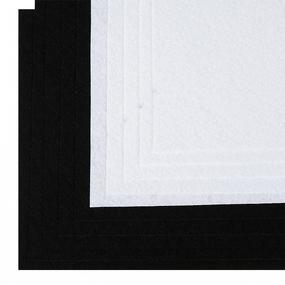 Набор листового фетра (жесткий) IDEAL 1мм 20х30см арт.FLT-HA8 уп.10 листов цв.белый,черный фото