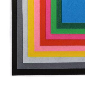 Набор листового фетра полужесткий IDEAL 1мм 20х30см арт.FLT-HSA уп.10 листов цв.ассорти фото