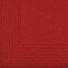Фетр листовой жесткий IDEAL 1 мм 20х30 см FLT-H1 упаковка 10 листов цвет 617 бордовый фото