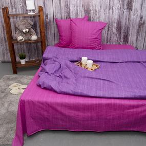 Постельное белье из перкаля Эко Фиолетовый закат Евро с нав 50/70 фото