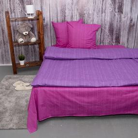 Постельное белье из перкаля Эко Фиолетовый закат Евро с нав 70/70 фото