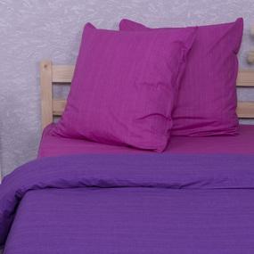 Постельное белье из перкаля Эко Фиолетовый закат Семейный фото