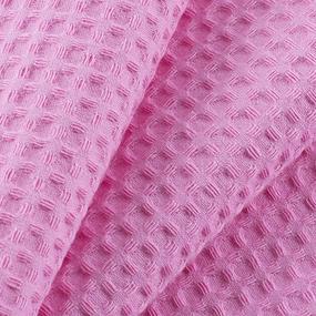 Вафельная накидка на резинке для бани и сауны Премиум женская цвет 071 розовый фото
