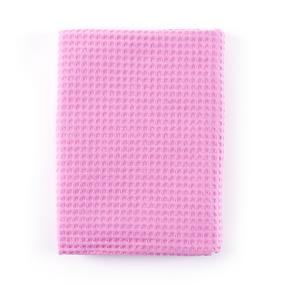 Полотенце вафельное банное Премиум 150/75 см цвет 071 розовый фото