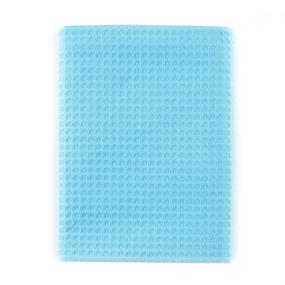 Полотенце вафельное банное Премиум 150/75 см цвет 437 бирюзовый фото