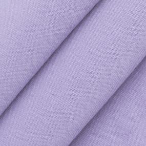 Ткань на отрез футер 3-х нитка компакт пенье начес 6855-1 цвет светло-лиловый фото