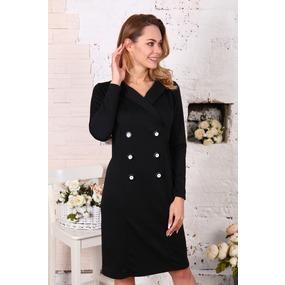 Платье Пиджак черное Д507 р 42 фото