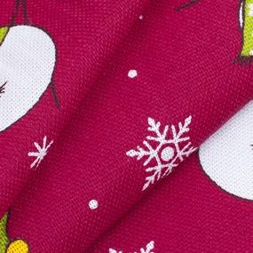 Ткань на отрез рогожка 150 см 97642 Снеговик цвет красный фото