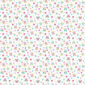 Ткань на отрез ситец 95 см 18794/1 Совушки цвет белый фото