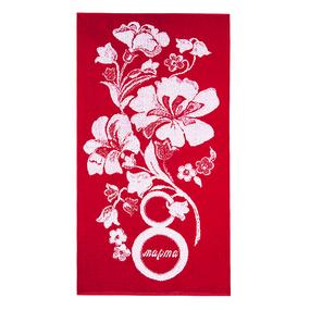 Полотенце махровое 1182 8 Марта 50/90 см цвет красный фото