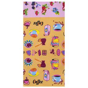 Полотенце вафельное 35/75 см 0222/1 цвет бежевый фото
