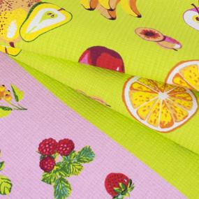 Полотенце вафельное 35/75 см 0222/1 цвет салатовый фото